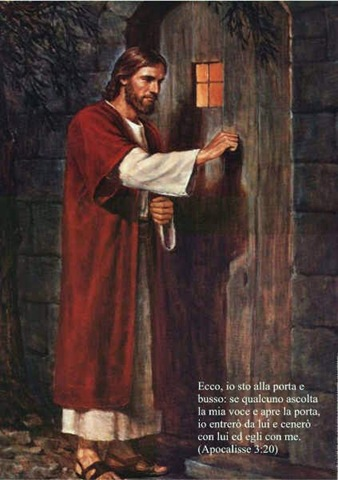 Gesu che bussa alla porta del cuore