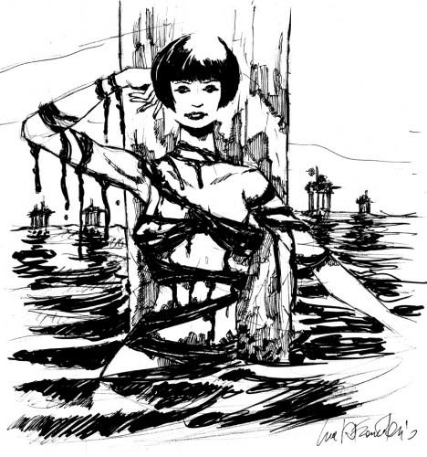 La mia personale visione della Valentina di Crepax per Coriandoli D'Arte.